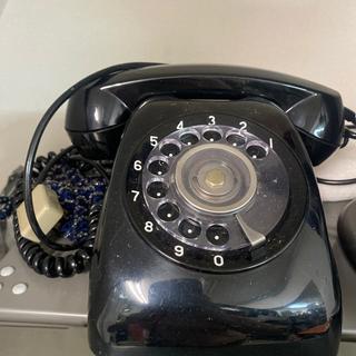 昭和レトロな昔のNTT黒電話機