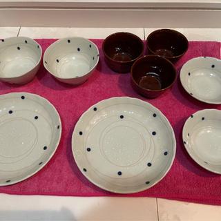 ※お相手が決まりました※水玉の和食器セット 小鉢 和皿 新品 未使用品 全部で15点! - 小牧市