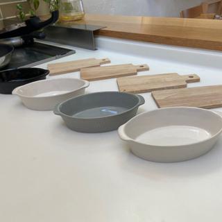 グラタン皿鍋敷セット