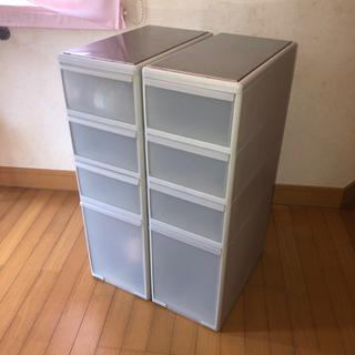 【購入者決定済】キッチン収納 プラスチックケース 2個セット 中古