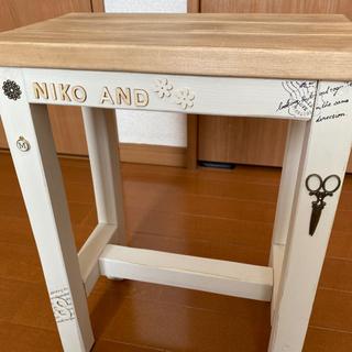 ハンドメイド  スツール - 家具