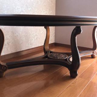 アンティーク テーブル ガラステーブル センターテーブル