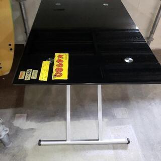 おとく値!昇降ガラステーブル 82309