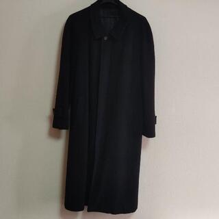【ネット決済】ネイビー ステンカラーコート ロングコート