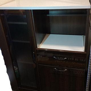 3千円 ニトリ食器棚、レンジ台