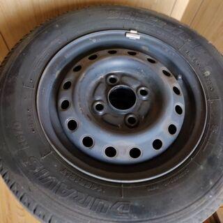 タイヤホイールセット 4本 ブリジストン 145R12 8PR ...