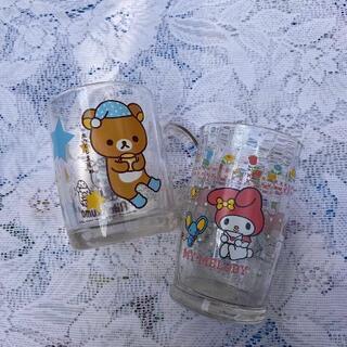 リラックマ マイメロディ コップ ガラス