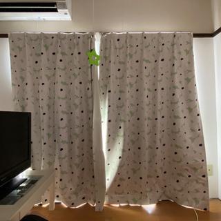 【決まりました】2級遮光カーテン&レースカーテン 窓2個分セットの画像