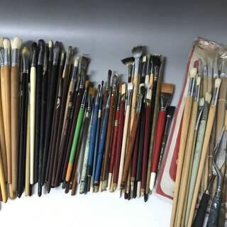 ⭕⭕⭕NI1/49 絵筆 まとめて100本以上 油絵 画筆 ナイ...