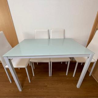 テーブル椅子 フルセット格安 本日限定荷下ろし等全て込み