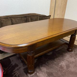 木製ローテーブル アンティーク調