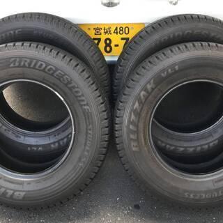 T0901b トラック用4本 冬タイヤ 195/80R15…