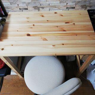 【ネット決済】無印良品 折りたたみテーブル 回転式椅子 セット