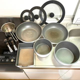 IH対応 ダイヤモンドコートパン セット(鍋、フライパン、卵焼き)