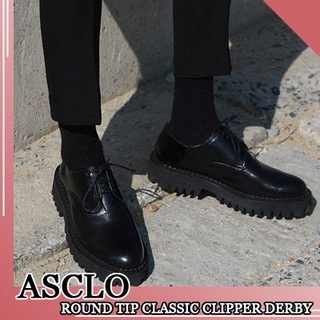 ASCLO 厚底革靴 韓国