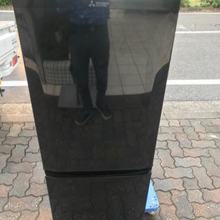【直接引取送料無料】三菱 2ドア冷蔵庫 MR-P15EY-B  ...