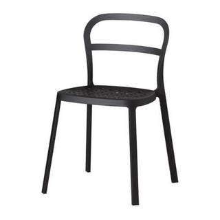【未使用】IKEAイス 黒色 2脚セット