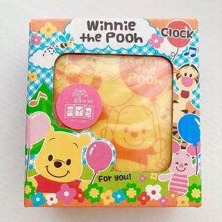 【新品】Poohのミラー付置き時計