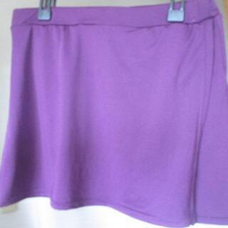 ◆紫色スポーツ用スカート Ⅿ~Ⅼ◆ランニングなどに