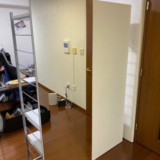 【ネット決済】【美品】ディノス 間仕切り棚 ミラータイプ
