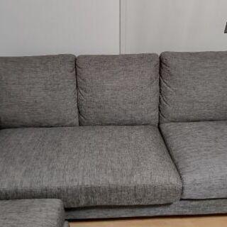 【ネット決済・配送可】ニトリ製  リクライニングソファー