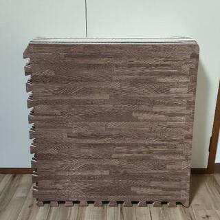 ジョイントマット 3畳 60×60cm 16枚 ブラウン 木目