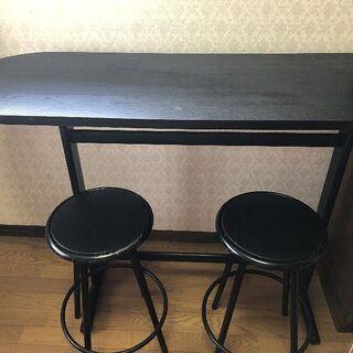カウンターテーブル(椅子2脚)