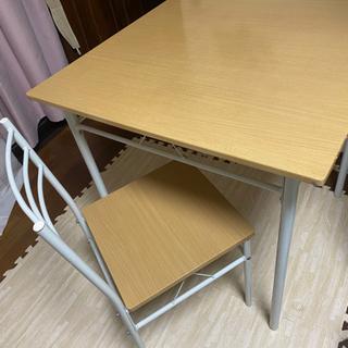 テーブルセット 椅子二脚