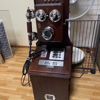 【希少美品】オルゴール付 アンティーク風 公衆電話機本体 鍵つき