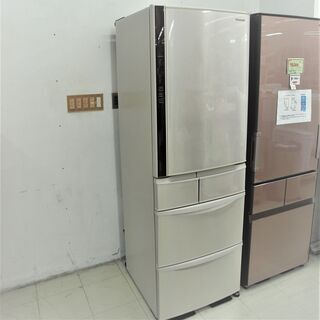 USED パナソニック 411L 5ドア冷蔵庫 NR-E412V-N