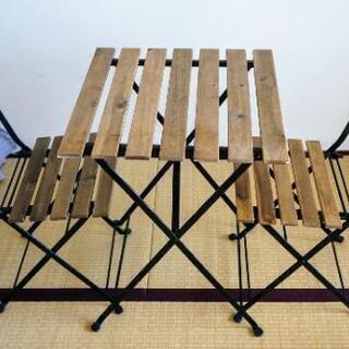 イケアアウトドア折りたたみ式テーブル