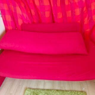 love a sof 赤いソファ