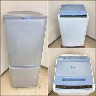 【地域限定送料無料】【有名国産セット】冷蔵庫・洗濯機  B…