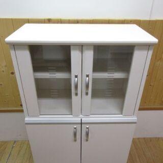 htp-697 ミニ食器棚 ホワイト キッチン収納 食器収納 収...