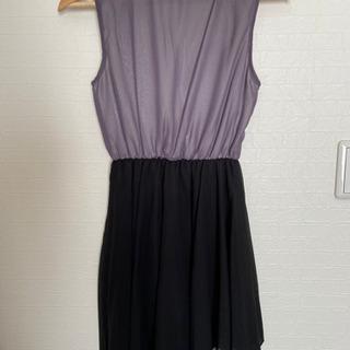 ワンピース ドレス 紫