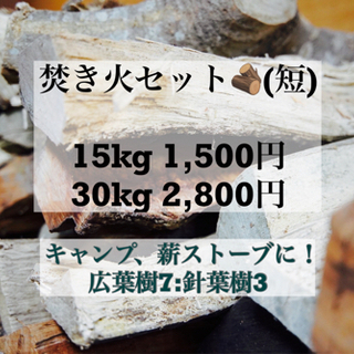 焚き火セット(短) 薪 乾燥薪