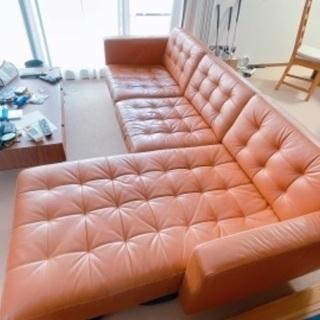 IKEAソファ 本革
