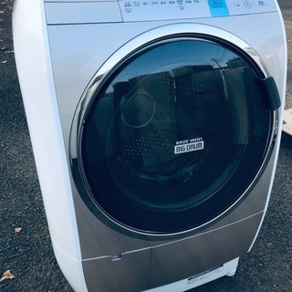 ♦️EJ1323番 HITACHI ドラム式電気洗濯乾燥機…