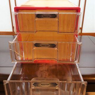 プラスチック製卓上小引き出し(三段) 二個組さしあげます - 名古屋市