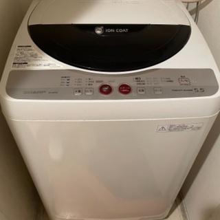 SHARP洗濯機5.5kg 譲ります