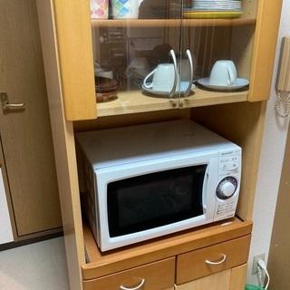 【ネット決済】綺麗です!食器棚兼レンジ台
