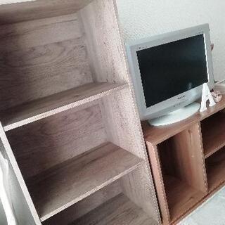 【無料】3段 カラーボックス テレビボード