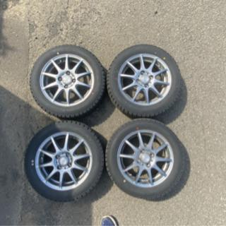 【ネット決済】冬タイヤ スタッドレスアルミ付き 4本セット