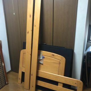 【ネット決済】木製 組み立て式 シングルベット なかなか美品