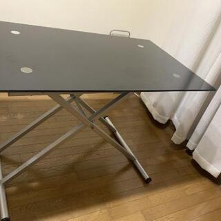 【値下げ】ダイニングテーブル 油圧式高さ調節