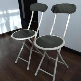 【差し上げます!】ニトリの折り畳み式椅子×2脚