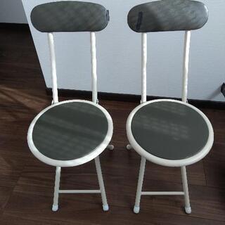 【差し上げます!9/28迄!】ニトリの折り畳み式椅子×2脚 - 札幌市