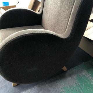 ブラウン ソファ椅子