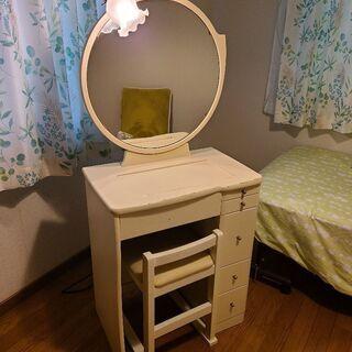 ドレッサー(椅子、照明付き)