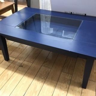 ローテーブル ネイビー コレクションテーブル (990)【…